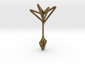 Little Tree N5 ,Fine Pendant. Pure Elegance in Natural Bronze