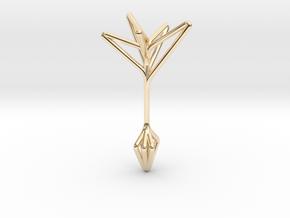 Little Tree N5 ,Fine Pendant. Pure Elegance in 14K Yellow Gold