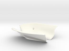 Lancia Delta Abdeckung Heckklappe Boot Plate Set 2 in White Processed Versatile Plastic