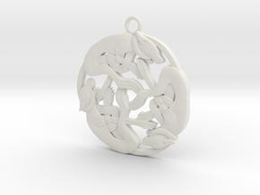Celtic-Dog in White Natural Versatile Plastic