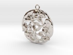 Celtic-Dog in Rhodium Plated Brass