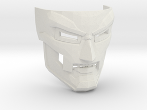 Dr Doom Mask in White Natural Versatile Plastic
