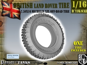 1-16 Land Rover 750x16 Tire in Black Natural Versatile Plastic