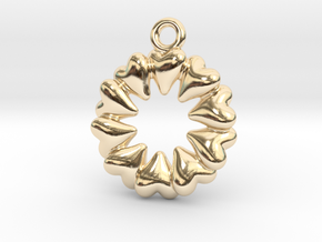Round Dance Of Hearts in 14K Yellow Gold