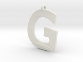 Distorted letter G in White Natural Versatile Plastic
