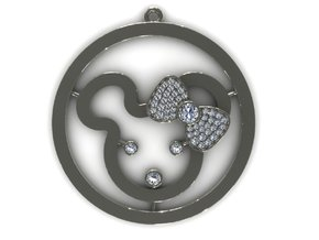Bear Cut Pendant in Frosted Ultra Detail