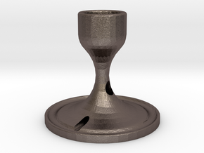 Ink Holder in Polished Bronzed Silver Steel