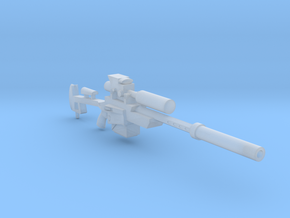 Heavy Laser Sniper (28mm) in Smooth Fine Detail Plastic
