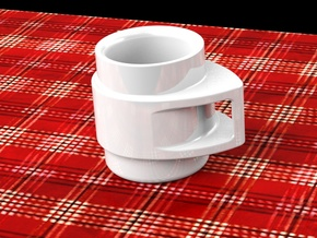 Coffee Mug in White Processed Versatile Plastic