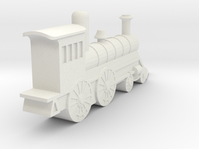 Express Locomotive Pennsylvania Railway 1882 1I200 in White Natural Versatile Plastic