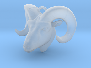 Ram Head Pendant Tiny in Smoothest Fine Detail Plastic