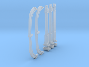 N Scale DTI concrete Catenary supports 4TRK KIT in Smooth Fine Detail Plastic