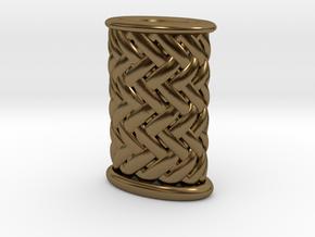Stiletto-3-Griffstruktur-Small (Handle) Part 3 in Polished Bronze