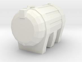 Sturdy Carbery 1250 Oil Tank in White Natural Versatile Plastic: Extra Small
