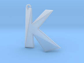 Distorted letter K in Smooth Fine Detail Plastic