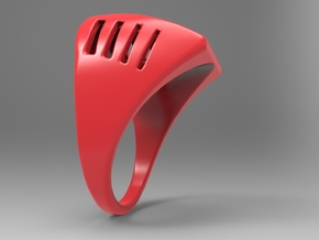 Breathing Ring Pl in Red Processed Versatile Plastic: 10 / 61.5
