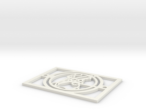 Gallifreyan Light Plate - Relaxing Drink in White Natural Versatile Plastic