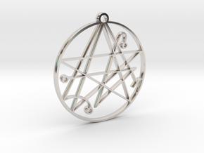 Mystical Cthulhu Symbol Pendant in Platinum