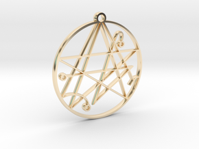 Mystical Cthulhu Symbol Pendant in 14k Gold Plated Brass