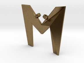 Distorted letter M in Natural Bronze