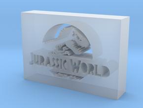 Jurassic World Logo in Smooth Fine Detail Plastic