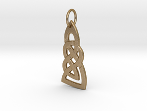 Celtic Knot Pendant 1 in Polished Gold Steel