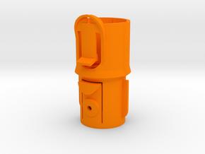 Adapter w Clip for Dyson V7/V8 to Pre-V7 in Orange Processed Versatile Plastic