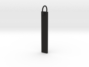 Celtic Knot Pendant 2 in Black Natural Versatile Plastic