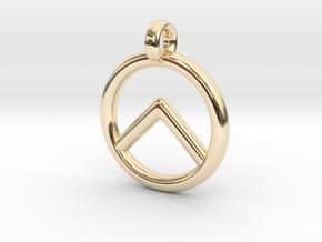 Spartan Shield Pendant/Keychain in 14K Yellow Gold