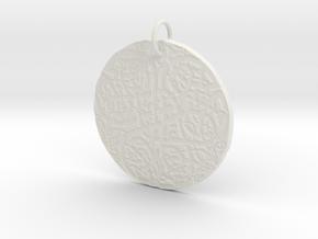 Celtic Knot Pendant 4 in White Natural Versatile Plastic