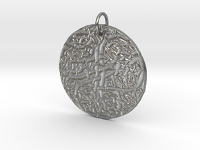 Celtic Knot Pendant 4 in Natural Silver