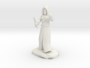 Dragon Cultist with Dagger in White Natural Versatile Plastic