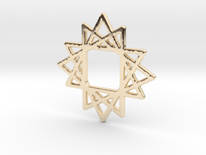 16 Point Star in 14k Gold Plated Brass