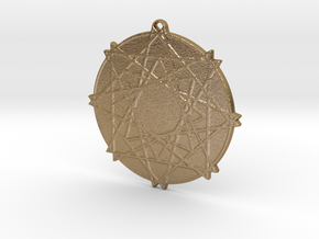 Lattice Star Pendant in Polished Gold Steel