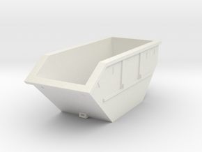 Big trash container in White Natural Versatile Plastic: 1:87 - HO