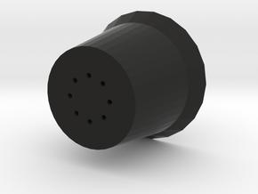 Small Flower Pot in Black Natural Versatile Plastic