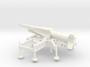 1/144 Scale Nike Ajax Laucher And Missile in White Strong & Flexible Polished