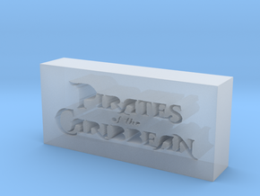 Pirates of the Caribbean Logo in Smooth Fine Detail Plastic