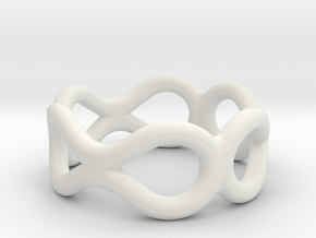 Infinity Ring in White Natural Versatile Plastic