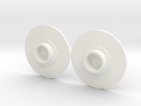 Fidget spinner caps in White Processed Versatile Plastic