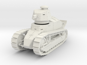 PV09A Renault FT Cannon (28mm) in White Natural Versatile Plastic