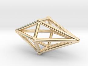 Diamond Light Crystal in 14k Gold Plated Brass