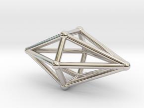 Diamond Light Crystal in Rhodium Plated Brass
