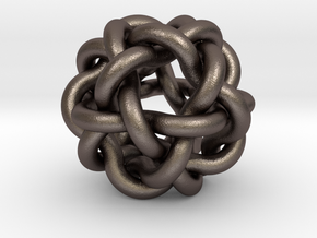 Woven Ball Scaled X2 in Polished Bronzed Silver Steel
