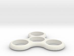 Hand Spinner Fidget Toy in White Natural Versatile Plastic