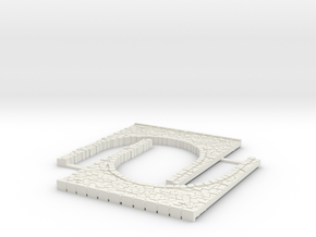 Arch1-60mm in White Natural Versatile Plastic