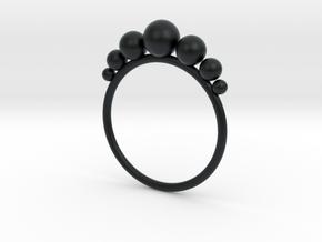 Anello Pallini in Black Hi-Def Acrylate