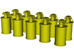 1/10 scale M-18 smoke grenades x 10 in Smooth Fine Detail Plastic