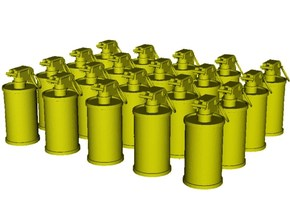 1/10 scale M-18 smoke grenades x 20 in Smooth Fine Detail Plastic
