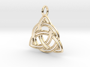 Celtic Knot Pendant in 14K Yellow Gold